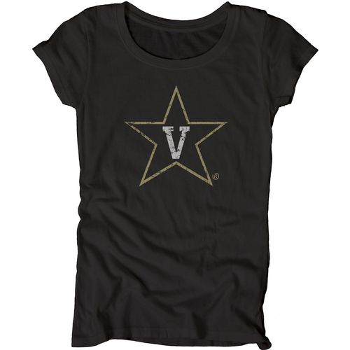 Blue 84 Juniors' Vanderbilt University Mascot Soft T-shirt