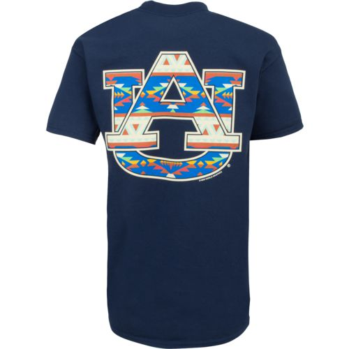 New World Graphics Women's Auburn University Logo Aztec T-shirt