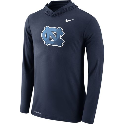 Nike Men's University of North Carolina Dri-Blend Long Sleeve Hoodie T-shirt