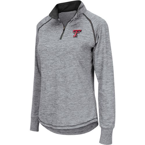 Colosseum Athletics Women's Texas Tech University Bikram 1/4 Zip Long Sleeve T-shirt