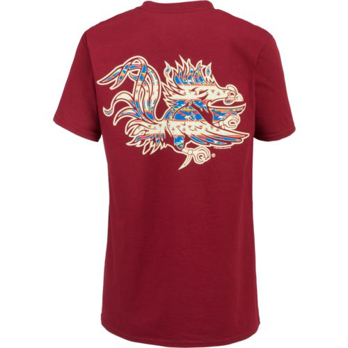 New World Graphics Women's University of South Carolina Logo Aztec T-shirt