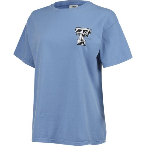 New World Graphics Women's Texas Tech University Comfort Color Circle Flowers T-shirt - view number 3