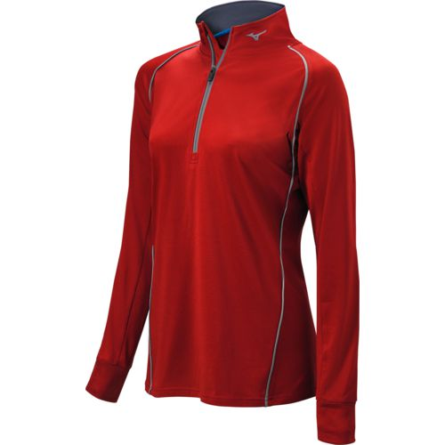 Mizuno Girls' Comp Softball 1/2 Zip Hitting Top