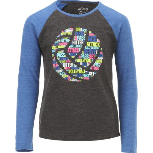 BCG Girls' Volleyball Raglan Long Sleeve T-shirt - view number 1