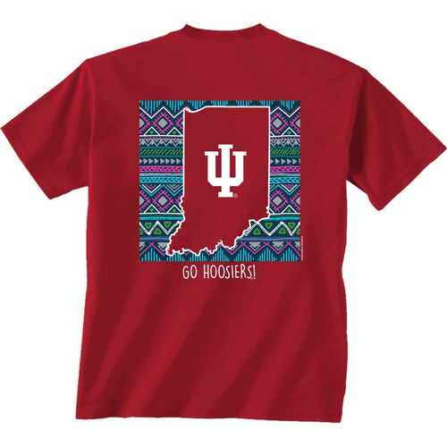 New World Graphics Women's Indiana University Terrain State T-shirt