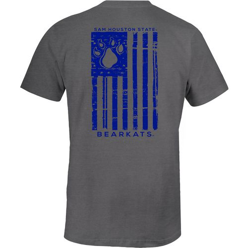 Image One Men's Sam Houston State University Distressed Flag T-shirt
