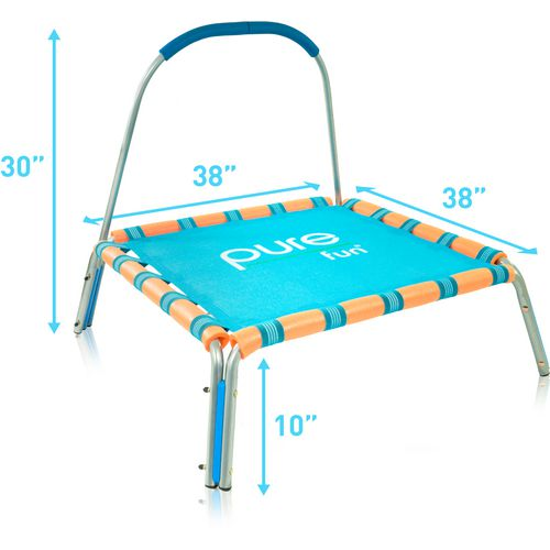 Pure Fun Kids' Jumper Trampoline with Handrail - view number 5