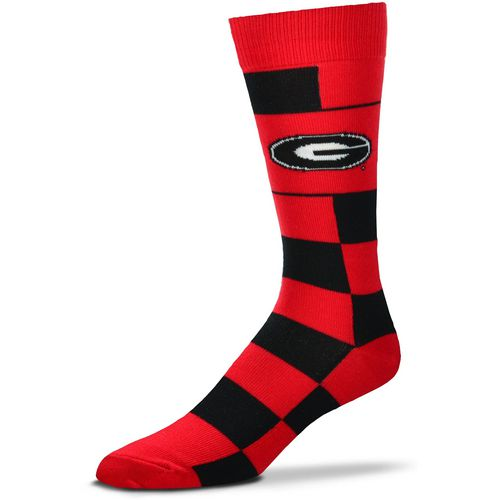 For Bare Feet University of Georgia Jumbo Check Thin Knee High Dress Socks