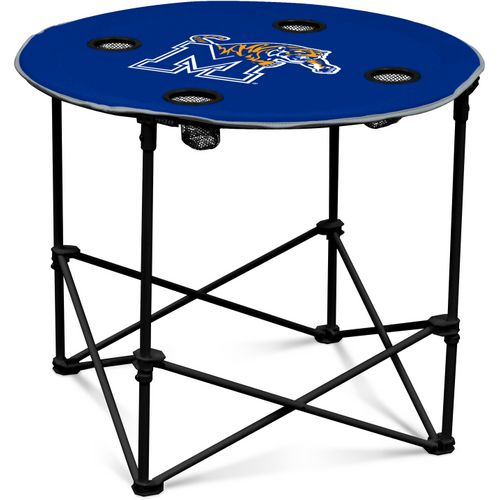 Logo University of Memphis Round Portable Table