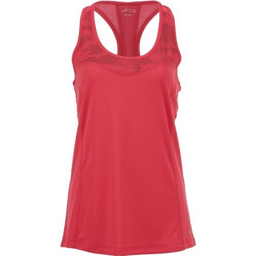BCG Women's Athletic Run Reflective Pieced Racer Tank Top