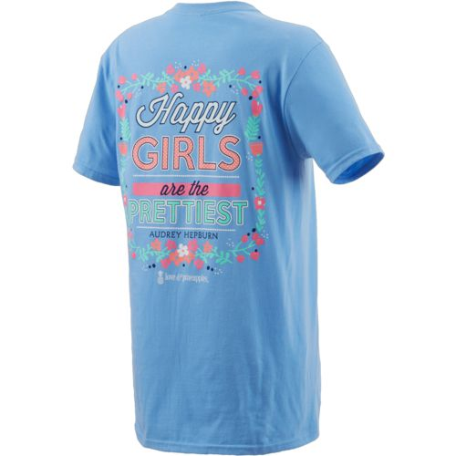 Love & Pineapples Women's Happy Girls Are The Prettiest T-shirt - view number 2