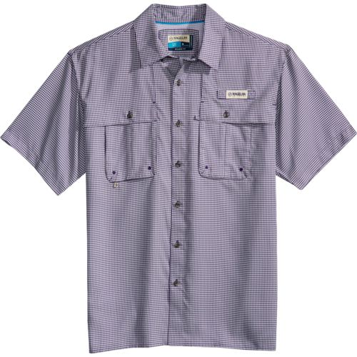 Magellan Outdoors Men's Aransas Pass Short Sleeve Gingham Fishing Shirt