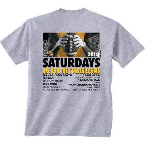 New World Graphics Men's Southern Mississippi University Football Schedule T-Shirt
