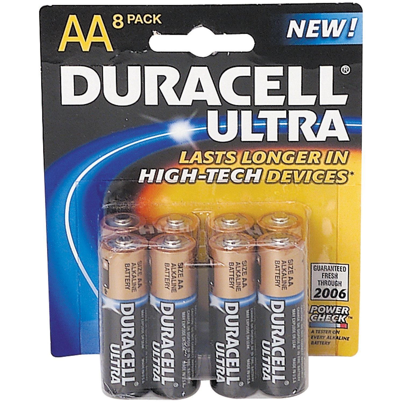 Duracell Ultra AA Batteries 8-Pack