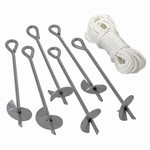 "ShelterLogic ShelterAuger™ 15"" Earth Anchors 6-Pack"