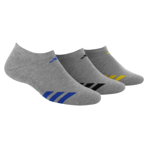 adidas Youth Striped No-Show Socks 3-Pack