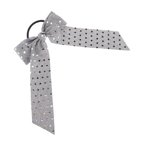 Soffe Metallic Silver Bow Scrunch