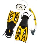 Body Glove Professional Series Amani Mask, Fins and Snorkel Set
