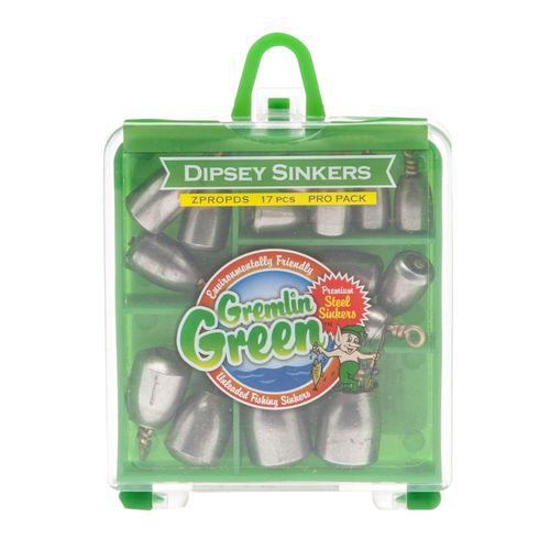 Water Gremlin Green Premium Steel Dipsey Swivel Sinkers Pro Pack Assortment