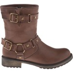 SKECHERS Women's AWOL Low Double Strap Studded Boots