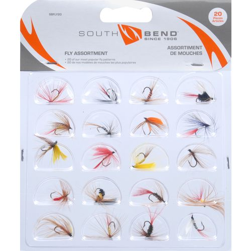 South Bend Assorted Flies 20-Pack