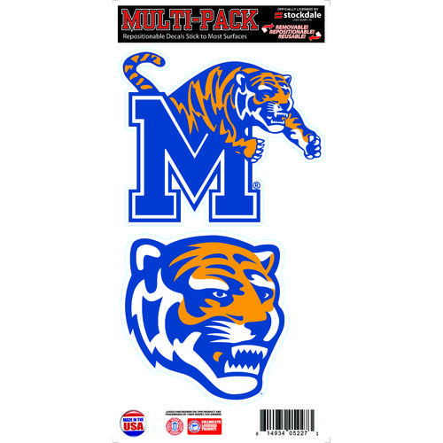 "Stockdale University of Memphis 6"" x 12"" Repositionable Vinyl Decal Multipack"