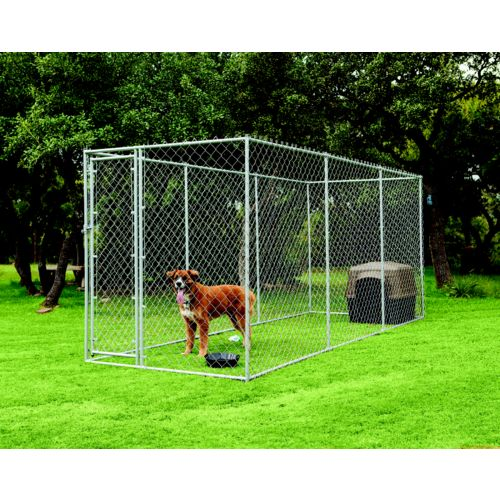 Aspen Pet 2-in-1 Wire Chain Link Outdoor Dog