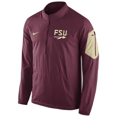 Nike™ Men's Florida State University Lockdown 1/2 Zip Jacket