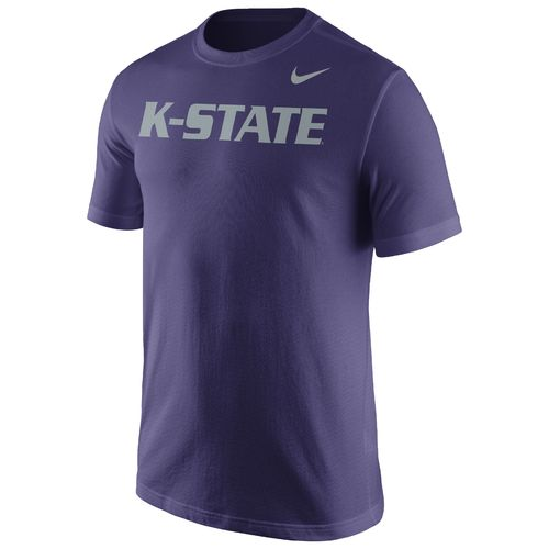 Nike™ Men's Kansas State University Cotton Short Sleeve Wordmark T-shirt - view number 1