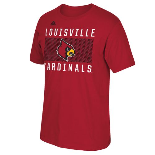 adidas™ Men's University of Louisville Big Pattern Name T-shirt