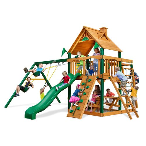 Gorilla Playsets™ Navigator Swing Set with Timber Shield™