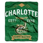 The Northwest Company University of North Carolina at Charlotte Label Raschel Throw
