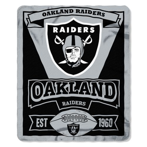 The northwest company oakland raiders marquee fleece throw for Outboard motor shop oakland