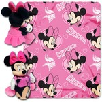The Northwest Company Minnesota Vikings Minnie Mouse Hugger and Fleece Throw Set