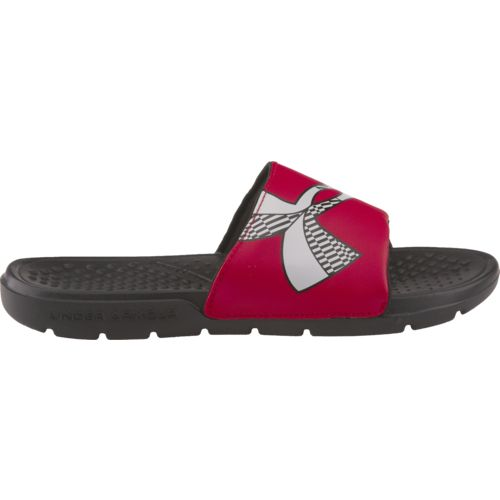 Under Armour Boys' Strike Checkboard Slides