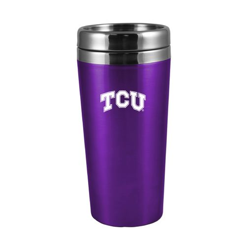 The Fanatic Group Texas Christian University 16 oz. Rubberized Stainless-Steel Tumbler