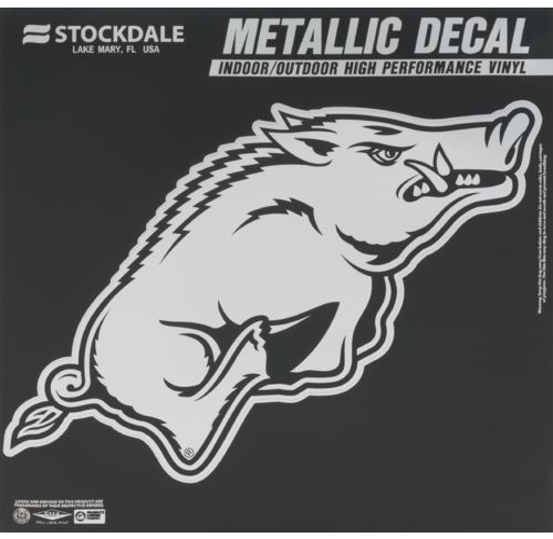Stockdale University of Arkansas Metallic Decal