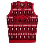 NCAA Adults' University of Arkansas Aztec Print Ugly Sweater Vest