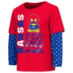Colosseum Athletics Toddler Girls' University of Kansas Super Cool Layered T-shirt