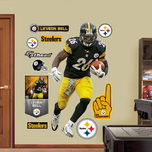 Fathead Pittsburgh Steelers Le'Veon Bell Home Real Big Wall Decal
