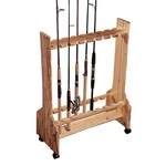 Rush Creek 16-Rod Double-Sided Rolling Rod Rack - view number 1