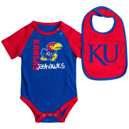 Colosseum Athletics Infants' University of Kansas Rookie Onesie and Bib Set