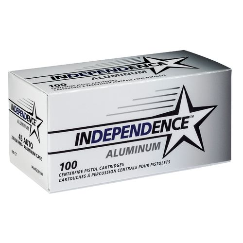 Display product reviews for Independence® Aluminum .45 Auto 230-Grain Handgun Ammunition