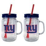 Boelter Brands New York Giants 20 oz. Handled Straw Tumblers 2-Pack