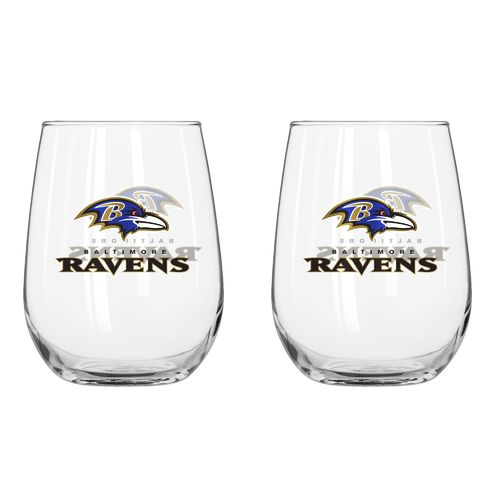 Boelter Brands Baltimore Ravens 16 oz. Curved Beverage Glasses 2-Pack - view number 1