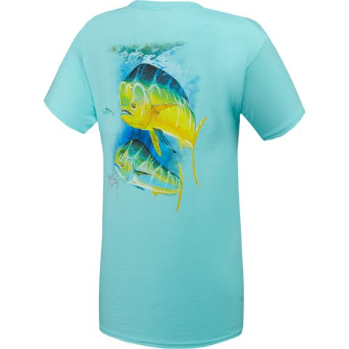 Guy Harvey Men's 2 Bulls T-shirt