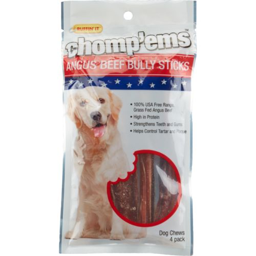 Ruffin' It Chomp'ems™ Angus Beef Bully Sticks Dog Treats 4-Pack