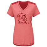 Majestic Women's St. Louis Cardinals Bright Lights V-neck T-shirt