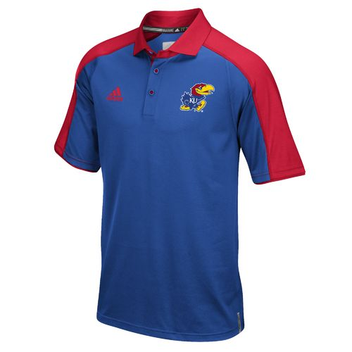 adidas™ Men's University of Kansas Sideline Polo Shirt