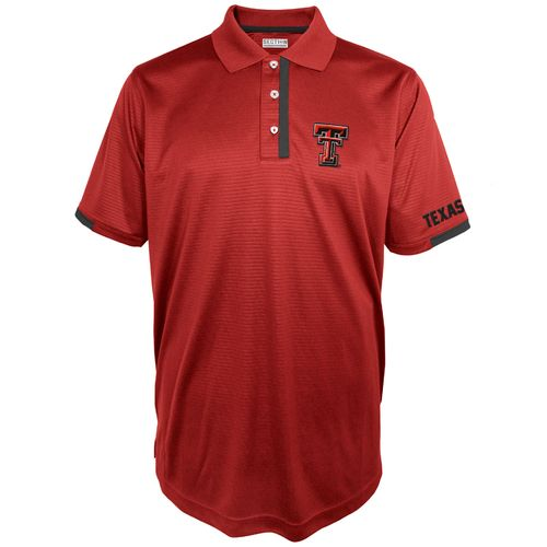 Majestic Men's Texas Tech University Section 101 First Down Polo Shirt
